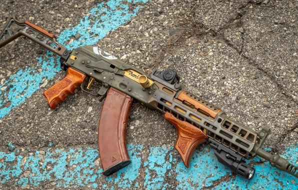 Картинка оружие, gun, weapon, custom, Калашников, ак 47, штурмовая винтовка, assault Rifle, ak 47, Kalashnikov, акм, …