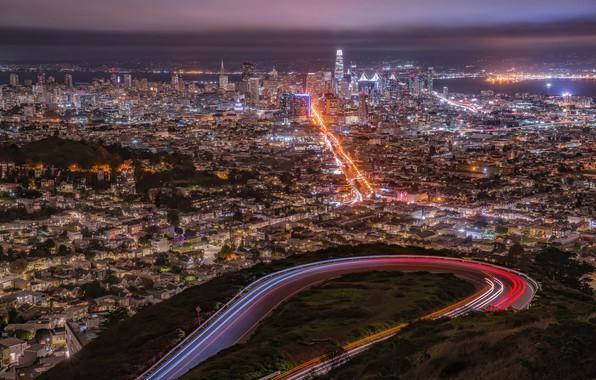 Картинка город, огни, San Francisco