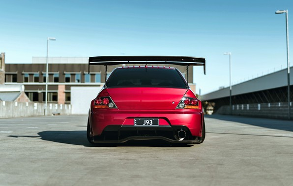 Картинка Mitsubishi, Lancer, Red, Car, Widebody, Evolution IX, Evo 9