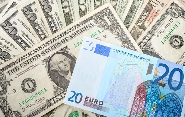 Картинка деньги, доллар, евро, купюры, fon, euro, dollar