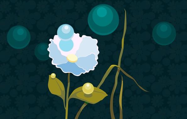 Картинка цветок, лето, цветы, природа, вектор, компьютерная графика, векторная графика
