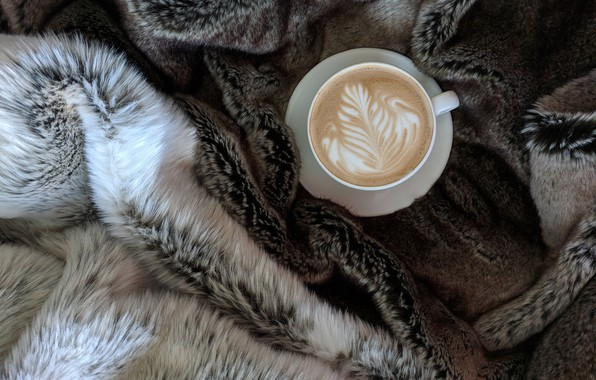 Картинка кофе, кружка, плед