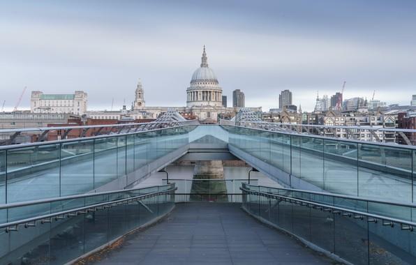 Картинка City, London, Millenium Bridge