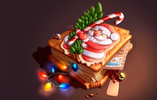 Картинка веточка, праздник, огоньки, арт, Новый год, книга, гирлянда, ёлочка, поздравление, открытка, детская, карамелька, SMIRNOV SCHOOL, …