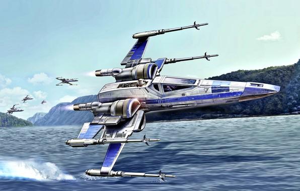 Картинка Звездные Войны, X-wing, Галактическая гражданская война, Звездный истребитель, T-65B, Альянс повстанцев