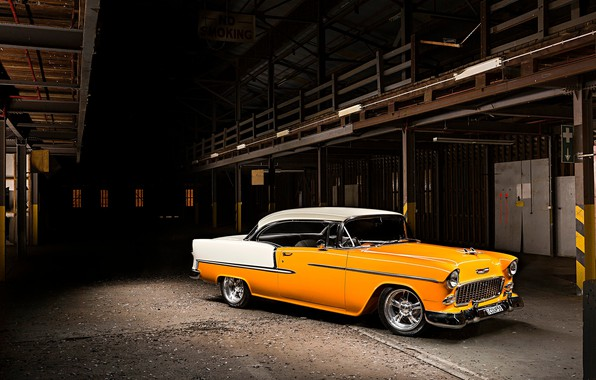 Картинка Chevrolet, Classic, Bel Air, Coupe, Vehicle, Bright machine