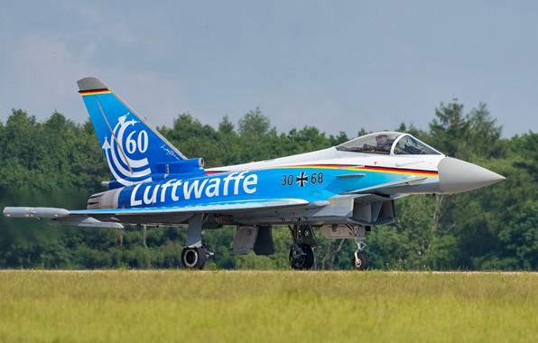 Картинка Взлет, Eurofighter Typhoon, Шасси, ВВС Германии, Многоцелевой Истребитель