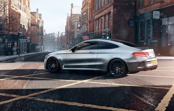 Картинка Mercedes, AMG, Forza Horizon, Mercedes-AMG, Game Art, C63S, Mikhail Sharov, Forza Horizon 4, Transport & …