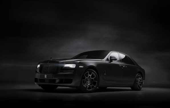 Картинка фон, Rolls-Royce, Ghost, тёмный, Black Badge, 2019