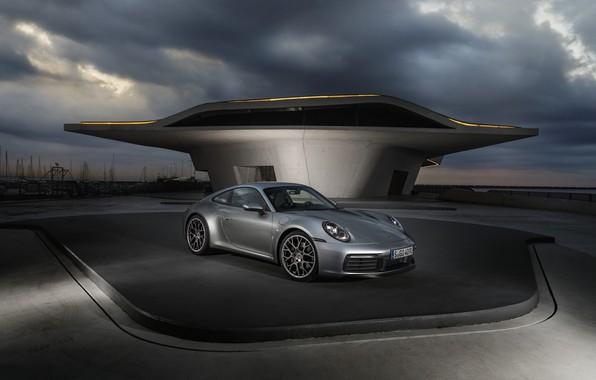Картинка купе, 911, Porsche, облачно, Carrera 4S, 992, 2019