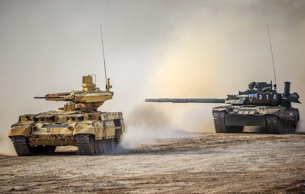 Картинка Терминатор, BMPT-72, БМПТ-72, Т-80 УЕ-1, T-80UE-1, бронетехника России