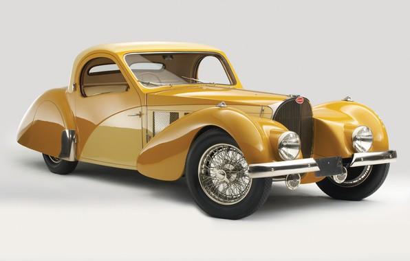 Фото обои ретро, Bugatti, 1937, Atalante, Bugatti Type 57s