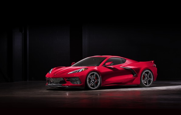 Картинка Corvette, Chevrolet, Колеса, Фары, Диски, Stingray, Спорткар, 2020, Chevrolet Corvette ( C8 ) Stingray