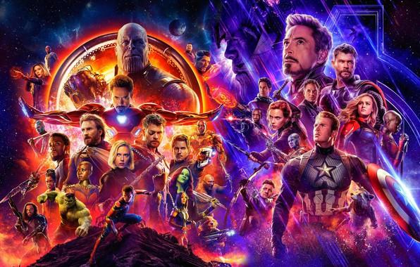 Картинка фэнтези, постер, персонажи, Мстители: Война бесконечности