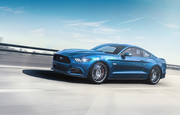 Картинка Mustang, Ford, Авто, Синий, Машина, Ford Mustang 2015, Transport & Vehicles, by Umit Isik, Ümit ...
