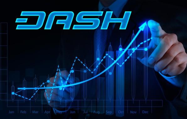 Картинка лого, валюта, Dash, cryptocurrency, граффик
