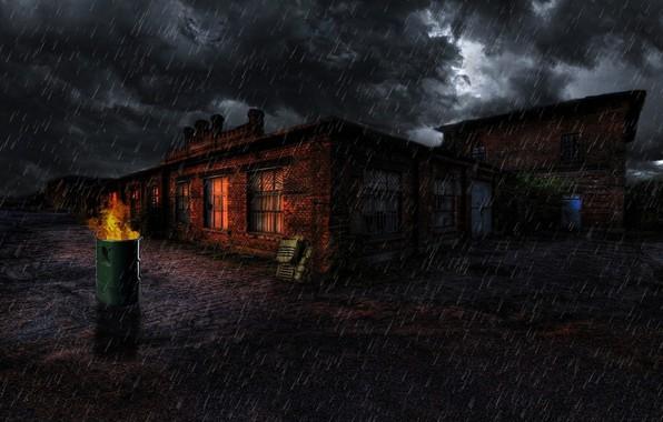 Картинка гроза, Ночь, база, ЧЗО