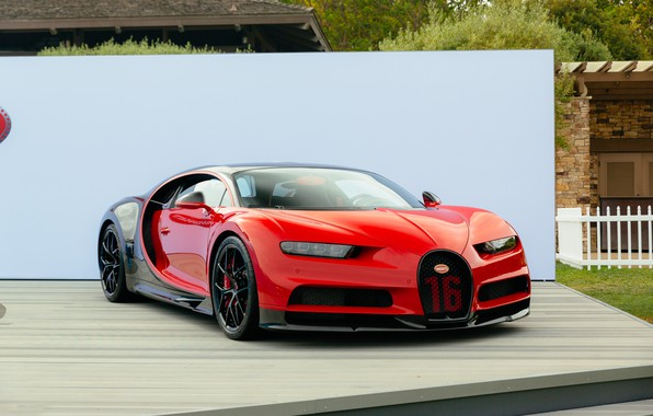 Картинка red, bugatti, black, chiron
