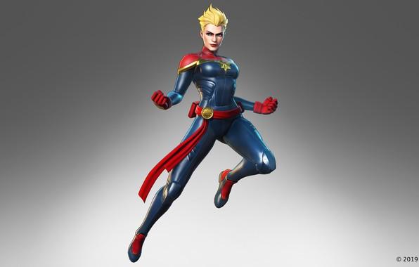 Картинка девушка, блондинка, костюм, Carol Danvers, captain marvel, the black order, marvel ultimate alliance 3