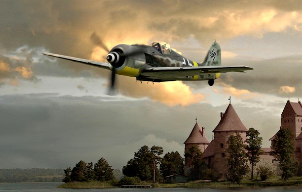 Картинка Air Force, August, Luftwaffe, 1944, Fw.190A-8, JG54, The Castle