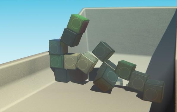 Картинка cubes, 3dart, blenderrender, plasticcubes