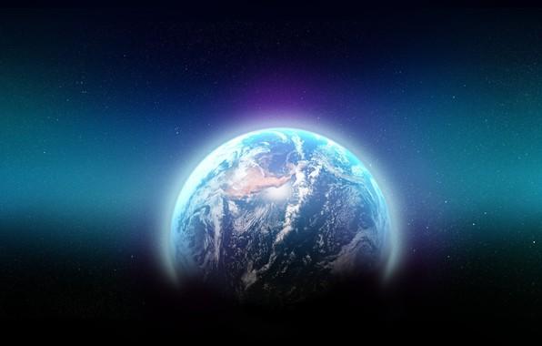 Картинка пространство, земля, мир, планета, арт