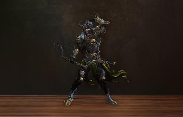 Картинка Skull, Warrior, Fiction, Arrow, Soldier, Archer, Armor, Bow, Arrows, GvArt GV, Adreferendum