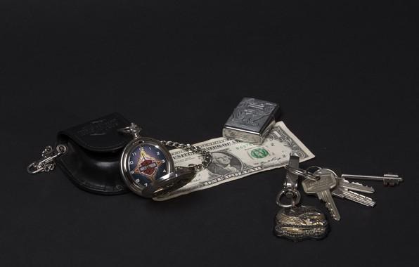 Картинка деньги, доллар, ключи, валюта