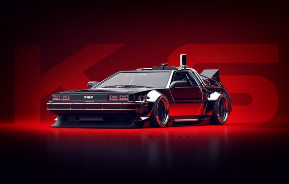 Картинка Авто, Машина, DeLorean DMC-12, Арт, Art, DeLorean, DMC-12, Рендеринг, Concept Art, Khyzyl Saleem, by Khyzyl …