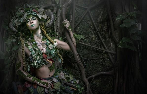 Картинка девушка, природа, стиль