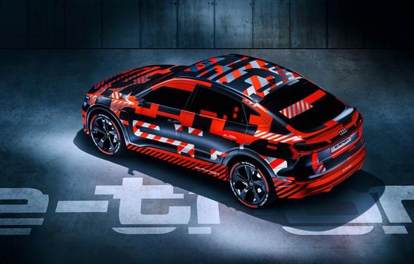 Картинка Audi, Ауди, концепт, кроссовер, электромобиль, 2019, Audi e-tron Sportback prototype