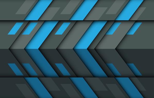 Картинка синий, серый, текстура, геометрия, абстракция 3d