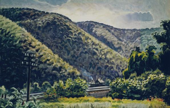 Картинка 1939-41, Charles Ephraim Burchfield, Late Afternoon in the Hills