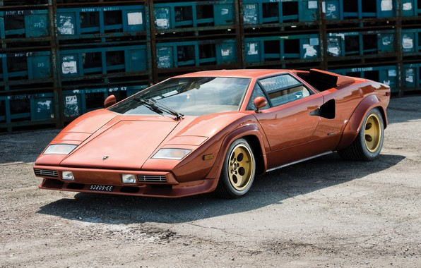 Картинка Orange, Supercar, Lamborghini Countach, 1974, Classic Car