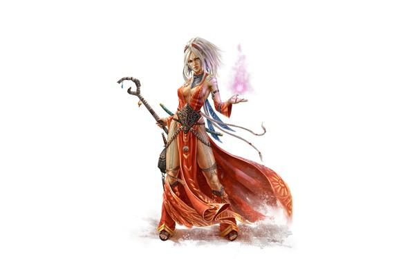 Картинка flame, fantasy, magic, cleavage, legs, minimalism, breast, tattoo, digital art, artwork, fantasy art, chest, rod, …