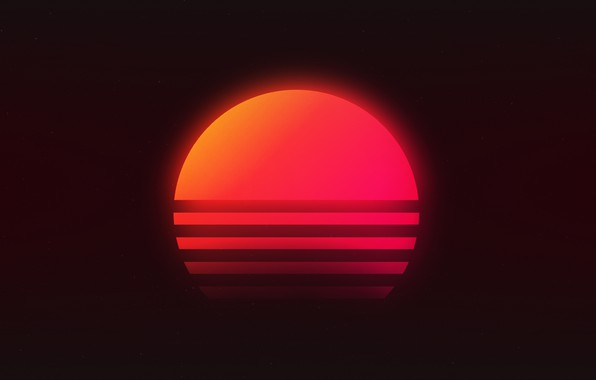 Картинка Солнце, Музыка, Звезда, Фон, Neon, 80's, Synth, Retrowave, Synthwave, New Retro Wave, Futuresynth, Синтвейв, Ретровейв, ...
