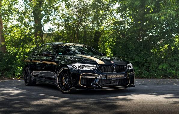 Картинка BMW, седан, диски, 2018, Biturbo, BMW M5, Manhart, M5, V8, F90, диффузор, 4.4 л., 723 …