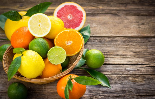 Картинка апельсины, лайм, фрукты, цитрусы, лимоны