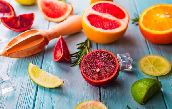 Картинка апельсин, лайм, грейпфрут