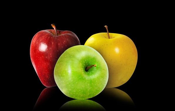 Картинка green, red, yellow, Apples, fuirt