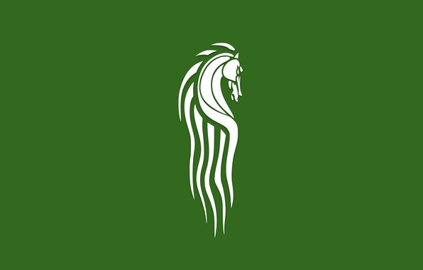 Картинка green, флаг, Властелин Колец, flag, Rohan, Рохан, horse, Толкиен, Lord of the Rings, Tolkien