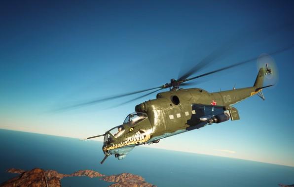 Картинка Крокодил, War Thunder, МИ-24Д