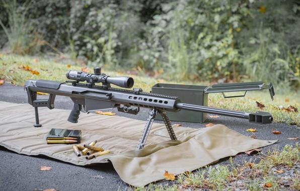 Картинка оружие, weapon, Barrett, снайперская винтовка, Барретт, sniper rifle, M82A1
