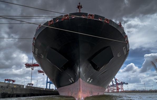 Картинка water, ship, port, Hamburg