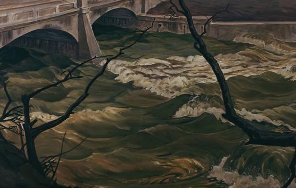 Картинка 1931, Charles Ephraim Burchfield, Spring Flood