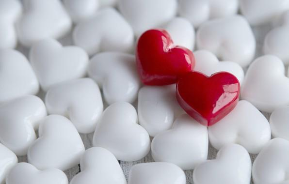 Картинка любовь, сердца, сердечки, красные, белые