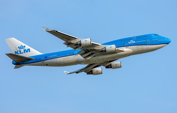 Картинка Boeing, KLM, Royal Dutch Airlines, 747-400M