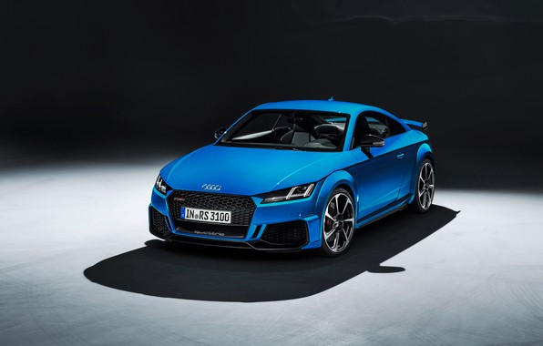 Картинка машина, дизайн, стиль, Audi, фары, купе, тень, TT RS, 2020