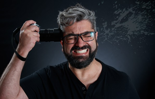 Картинка человек, камера, выстрел
