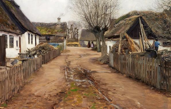 Картинка 1911, датский живописец, Danish realist painter, Ханс Андерсен Брендекильде, Hans Andersen Brendekilde, oil on canvas, …